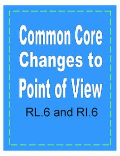 Useful information about Common Core and what students need to know about point of view.  Click the image for ideas and useful teaching tips.