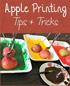Apple Painting Tips & Tricks to save money, contain mess and be more creative! We had a blast with this and there was barely any mess to clean up afterward!