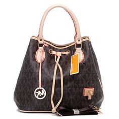 $78 Michael Kors MK Logo Crossbody Brown With Padlock : Michael Kors Outlet Online