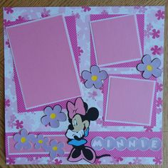 Cricut! Minnie Mouse premade single scrapbook page by BabyBearsCottage, $6.00 Who doesn't love Minnie