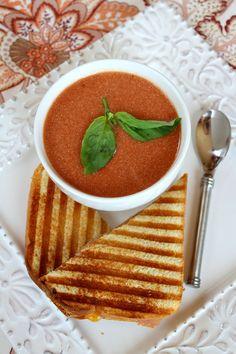 10 Minute Tomato Soup - RecipeGirl.com