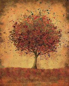 Autumn Home Decor Art - Welcome Change (burnt orange) - 8x10 Print. $18.00, via Etsy.