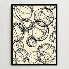 Framed Print - Spheres Sketches