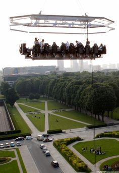 Dinner in the sky, Belgium  slightly scary...