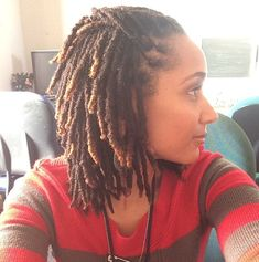 Loving her locs! The length, the colour... loc inspir