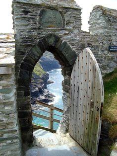 Tintagel castle door the doors, arch, tintagel castl, the view, king arthur, castles, castl door, place, cornwal