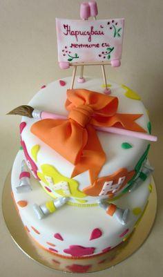 Painter cake — Children's Birthday Cakes