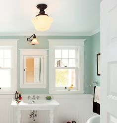 Rejuvenation Small Spaces: Jefferson Classic Flush Ceiling Fixture #decor #design #lighting #interior #home