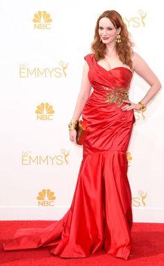Christina Hendricks from 2014 Emmys: Red Carpet Arrivals   E! Online