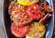 Heirloom Tomato Salad. . .true heaven!!