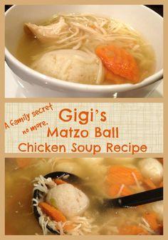 Gigi's Matzo Ball Chicken Soup Recipe - Trippin With Tara
