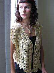 Lace Knit Crochet Vest