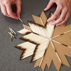 Cardboard and Burnt Matches Star (tutorial)