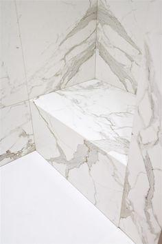 Beautiful Calacatta marble.