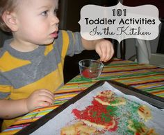 Cooking with your kids  101 Toddler Activities - In the Kitchen   #preschool