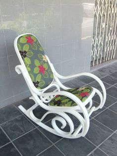 Paint and reupholster our bentwood rocker to fit the living room.