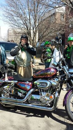 Jimmy and the most awesome artwork you'll ever see. Eds Posse Kansas City St. Patrick s Day Parade 2014 .
