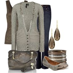 """neutral sparkle"" by lagu on Polyvore"