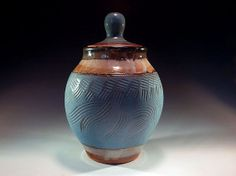 Carved Turquoise Lidded Jar by FutureRelicsGallery on Etsy, $45.00