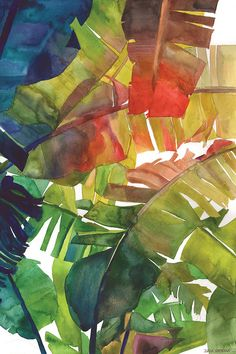 Banana Leaves by Maja Wronska is printed with premium inks for brilliant color and then hand-stretched over museum quality stretcher bars. 60-Day Money Back Guarantee AND Free Return Shipping.