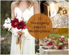 25 Thanksgiving Inspired Wedding Ideas