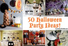50 + Awesome HALLOWEEN PARTY IDEAS via Kara's Party Ideas - (the Halloween parties won't come up immediately - just type 50 Halloween Party Ideas in the search box and it will bring them up)