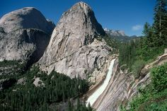 Nevada Falls with Liberty Cap and Half-Dome,   Yosemite NP, CA   © Marsha K. Russell