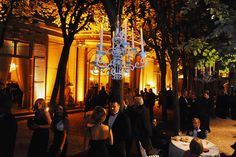 Chandeliers and the Linden grove