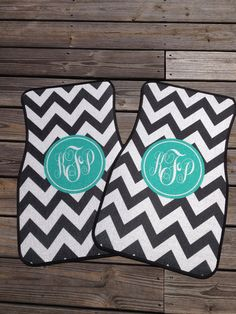 Perfect Sweet Sixteen Gift! :) Chevron Car Mats, Personalized  / Monogrammed Car Mats on Etsy, $75.00 Cool way to make your car preppy.