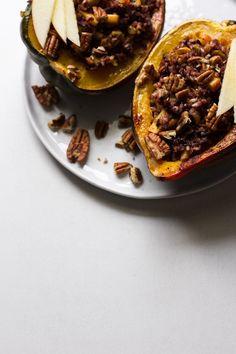 Spiced Wild Rice Stuffed Acorn Squash