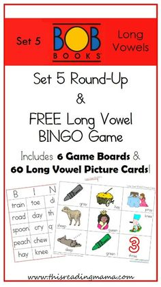 Set 5 BOB Book Round-Up and FREE Long Vowel BINGO Game | This Reading Mama