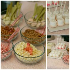 Pink and Gold hot chocolate bar