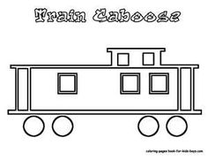Train template 1 for charting information about railroads.