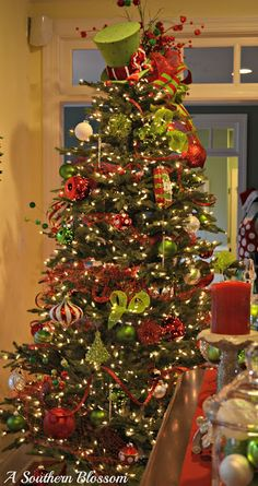 Christmas tree - I love the top hat near the top.