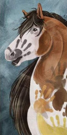 'Paints His Horse' Canvas Wall Art | ChickSaddlery.com