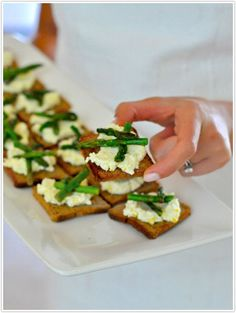 These crostini make delightful easter starters