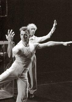Mikhail Baryshnikov and Merce Cunningham.