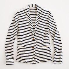 Factory stripe knit blazer