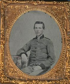 """Ambrotype of Confederate soldier from the estate of former North Carolina Governor Thomas Bickett.  Later inscription reads """"Grandfather William Daniel as a boy or young man""""."""