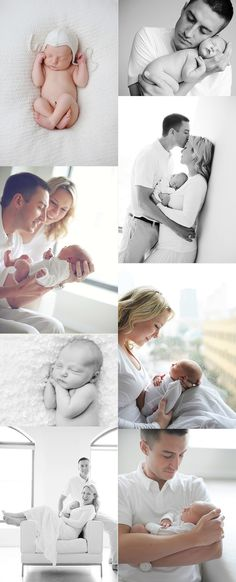 poses newborn and family