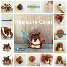 teddy bears, star wars fondant tutorial, bear cake topper, cake toppers, bear topper