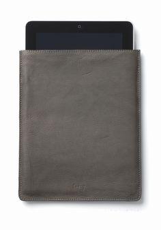 iPad leather slip case by Ferm Living - Dark grey