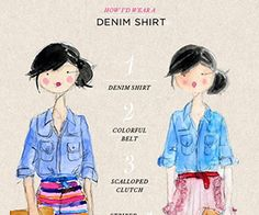 20 Style Tips On How To Wear A Chambray Shirt