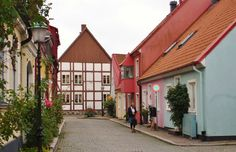 Quirky cottages in Ystad (Wallander town), Skåne, Sweden