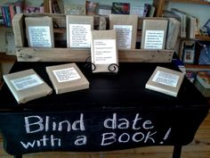 "Blue Heron Books in Uxbridge's ""blind date with a book"" displays are part of a trend towards more curated selections in independent bookstores."