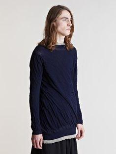 Yohji Yamamoto Men's Twisted Double Layer Sweater