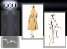 Vogue vintage coat pattern