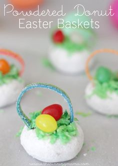 Powdered Donut Easter Basket Treats