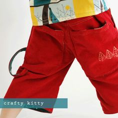 Free PDF Pattern & Tutorial: Rohan Skater Shorts by The Crafty Kitty