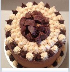 Peanut Butter Chocolate Reece's Cake